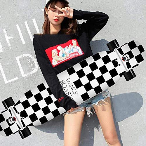 HUADUO Maple Longboard Skateboard Jungen und Mädchen Brush Street Dance Board Anfänger Adult Youth...