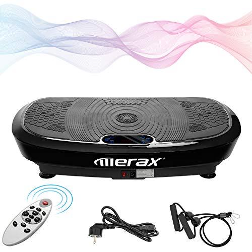 Merax Profi Vibrationsplatte Ganzkörper Trainingsgerät, 5 Trainingsprogramme + 180 Stufen,mit 2x200W...