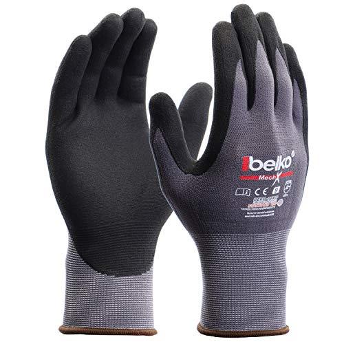 12 Paar Belko MechX Arbeitshandschuhe Schutzhandschuhe Montagehandschuhe Griphandschuhe Gartenhandschuhe...