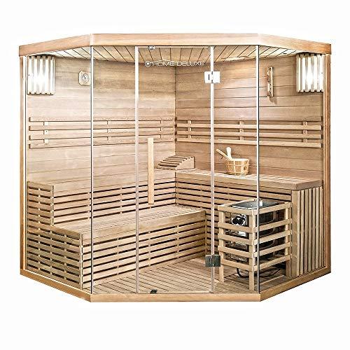 Home Deluxe - Traditionelle Sauna - Skyline XL Big - Holz: Hemlocktanne - Maße: 200 x 200 x 210 cm - inkl....