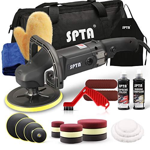 SPTA 125mm/150mm/180mm Polierer mit Variable Geschwindigkeit Profiset - Poliermaschine/Schleifmaschine 1200...
