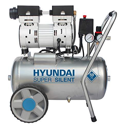 HYUNDAI Silent Kompressor SAC55752 (Druckluftkompressor, LFREI, Flsterkompressor mit 59 dB(A), 24 l...