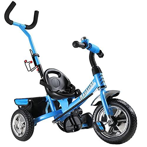 Dreirad Sicherheitsgurt abnehmbare Lenkstange verstellbare Fußablage Kinderdreirad Fahrrad Kinder Kleinkinder...