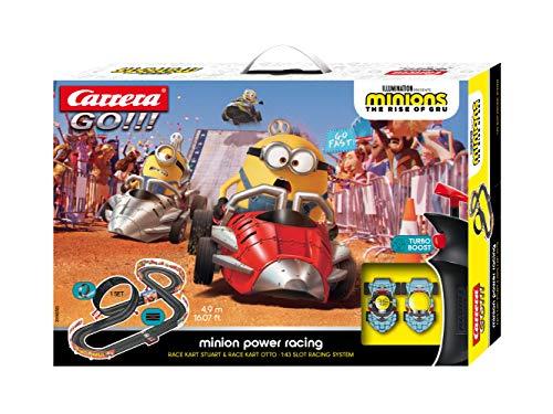 Carrera GO!!! Minion Power Racing Rennstrecken-Set   4,9m elektrische Rennbahn mit 2 Autos I inkl. Handregler...