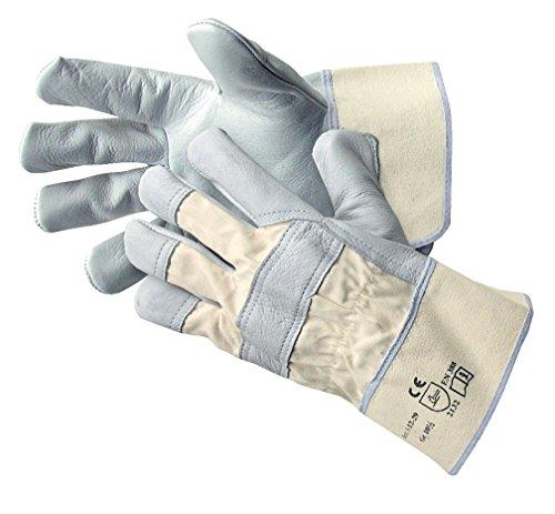 Jah Unisex Lederhandschuh Stulpe Einfach, Natur, Größe 10.5 EU (10 Paar)