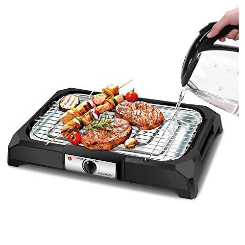 Aigostar Tischgrill Elektrisch, Barbecue Elektrogrill 2000W, 41 x 24 cm Grillfläche, Smokeless Elektrischer...
