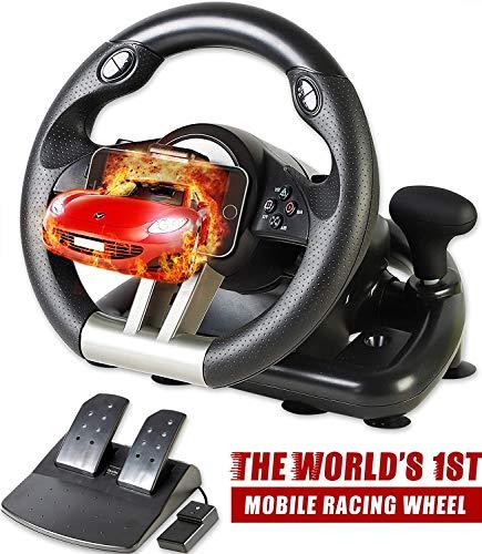 Serafim R1 + Rennrad - Gaming-Lenkrad mit Responsive Pedale - kompatibel mit Xbox ONE, PS4, PS3, Switch, PC,...