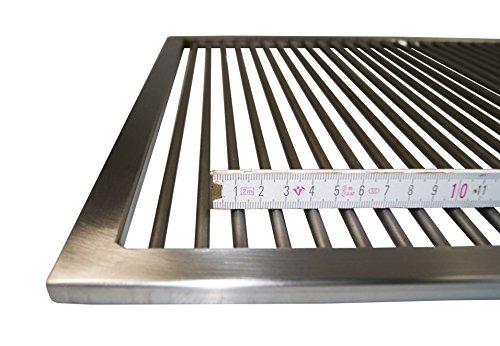 Grillclub Edelstahl Grillrost 60,5 x 44,5 cm !! nur 9 mm Lichter Stababstand !! für Weber Spirit E 300 310...