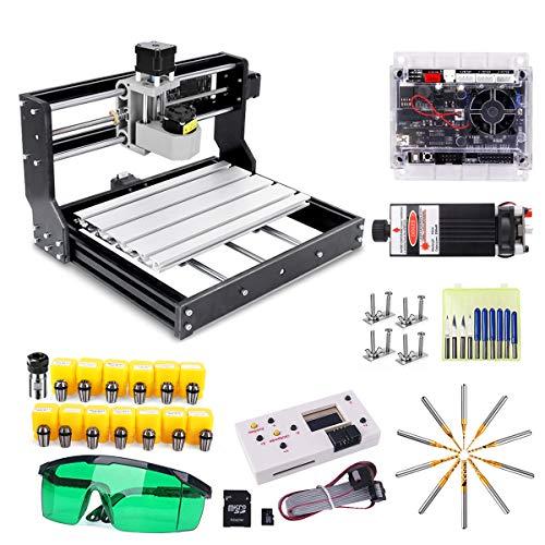 CNC 3018 Pro Engraver Fräsmaschine mit 7W Laserkopf, craftsman168 Upgrade Version GRBL Steuerung, 3 Achsen...