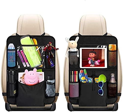 Auto Rückenlehnenschutz, Sisleyhome 2 Stück Auto Rücksitz Organizer für Kinder, Große Taschen und...