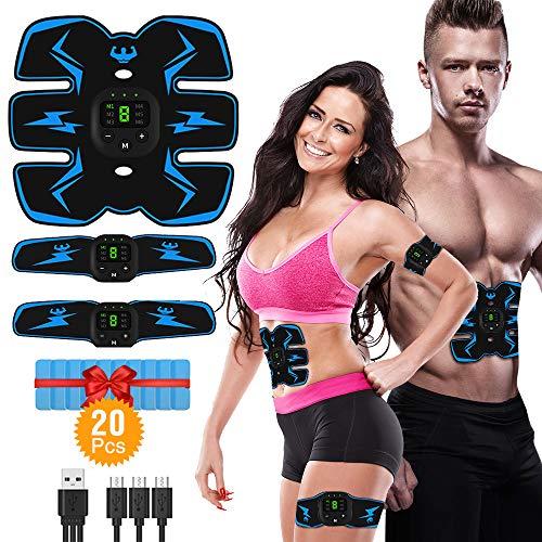 VICTOOM Muskelstimulation Elektrostimulation EMS ABS Bauchtrainer Trainingsgerät, Bauchmuskeltrainer für...