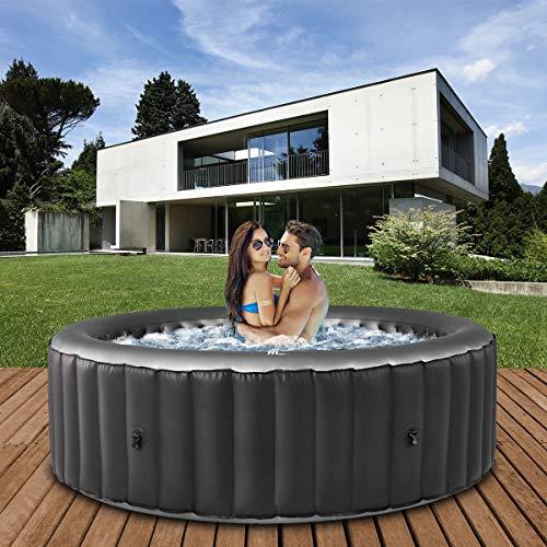 Miweba MSpa aufblasbarer Whirlpool 2021 Comfort Bergen C-BE061 - für 6 Personen - 138 Luftdüsen - 204.0 x...