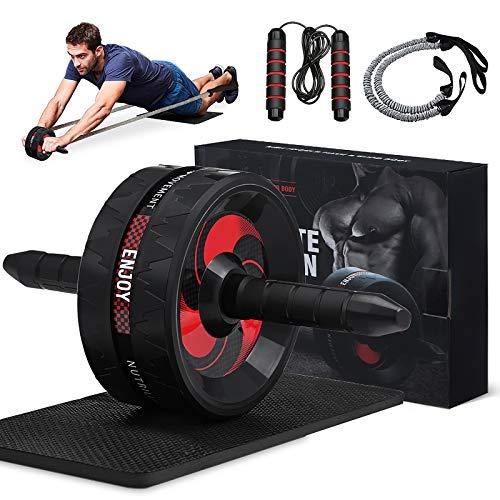 Slimerence AB Roller Kit mit Widerstandsbänder, Bauchmuskeltrainer für Bauchmuskeltraining,...