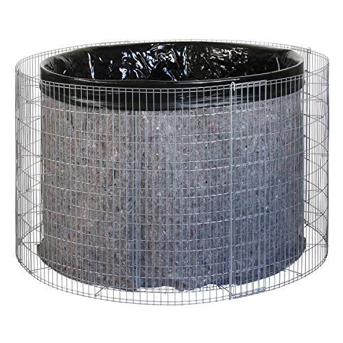 bellissa Gabionen-Wasserfass - 95560 - Wassertonne für den Garten - Gartenteich Tonne Bausatz inkl....