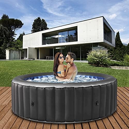 Miweba MSpa aufblasbarer Whirlpool 2021 Comfort Bergen C-BE041 - für 4 Personen - 118 Luftdüsen - 180.0 x...