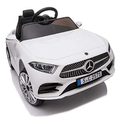 crooza Mercedes-Benz CLS350 Kinderauto Weiss Kinder Elektro Elektrofahrzeug mit Fernbedienung mp3, USB, 2X...