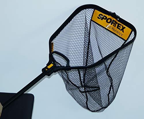 Sportex Alu-Raubfischkescher gummiert 60x50cm 401001 Kescher Raubfischkescher Angelkescher Net