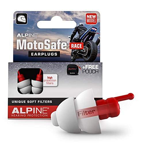 Alpine MotoSafe Race Gehörschutz Ohrstöpsel Rennstöpsel - Verhindern Gehörschäden vom Motorradfahren -...