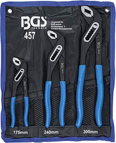 BGS 457 | Wasserpumpenzangen-Satz | 3-tlg. | 175-240-300 mm | rutschhemmend | Klemmschutz | Rohrzange /...