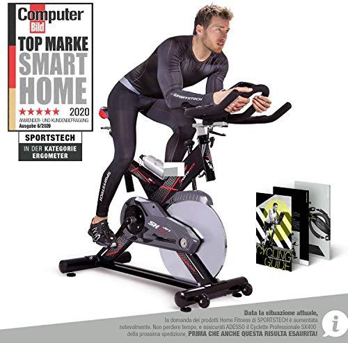 Sportstech Profi Indoor Cycle SX400 | Deutsches Qualitätsunternehmen | mit Video Events & Multiplayer App |...