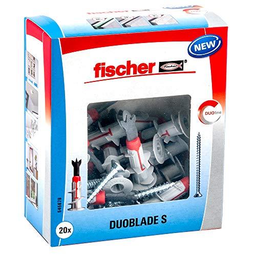 fischer DUOBLADE S, selbstbohrender Gipskartondübel mit Spanplattenschraube, starker Dübel für einfache...