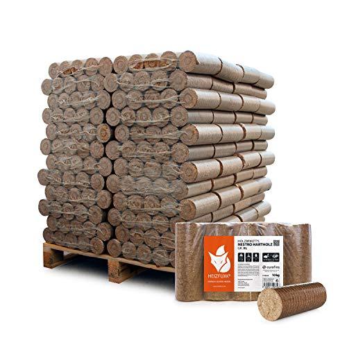 HEIZFUXX Holzbriketts Hartholz Nestro XL Kamin Ofen Brenn Holz Heiz Brikett 10kg x 96 Gebinde 960kg / 1...