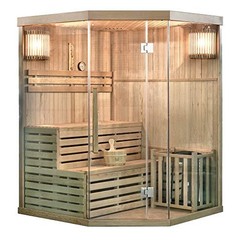 Home Deluxe - Traditionelle Sauna - Skyline XL - Holz: Hemlocktanne - Maße: 150 x 150 x 210 cm - inkl. kompl....