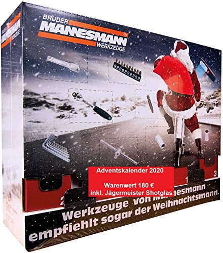 Mannesmann Adventskalender 2020 Werkzeug MM2-WERT 180€- Männer Heimwerker Werkzeugkalender, Brüder...