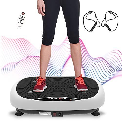 ATIVAFIT Fitness Vibrationsplatte mit Ultraflache Vibration Shaper Platte mit LCD Display, Fernbedienung,...