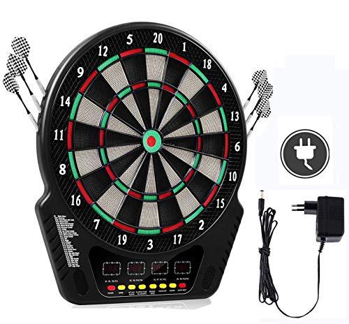 Oppikle Elektronische Dartscheibe - E Dart Scheibe e dartboards dartautomat mit 6 Dartpfeile - 27 Spielen und...