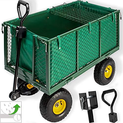 KESSER® Bollerwagen 550kg belastbar Gartenwagen Transportwagen Gartenkarre herausnehmbare Plane Gerätewagen...