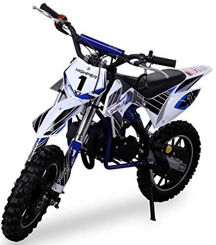 Kinder Mini Crossbike Gazelle 49 cc 2-takt inklusive Tuning Kupplung 15mm Vergaser Easy Pull Start verstärkte...
