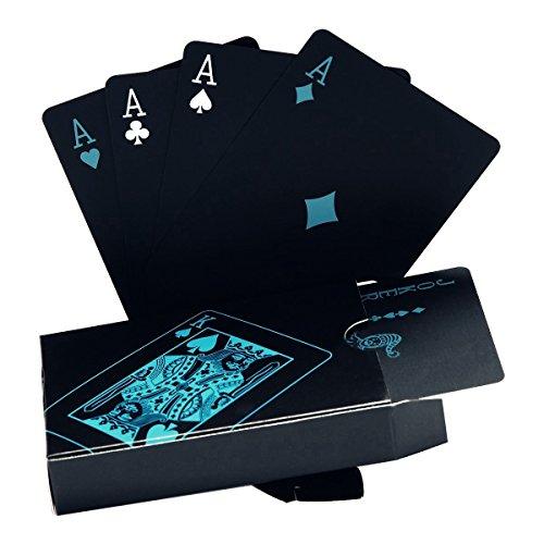 Poker-Karten, wasserdicht.Schwarzes Design, Professionelle Poker-Karten aus Kunststoff in...