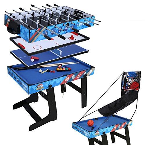 hlc 5 in 1 multifunknierte Tischspiel Tischfußball/Tischtennis/Air Hockey/Billard/Basketballspiel