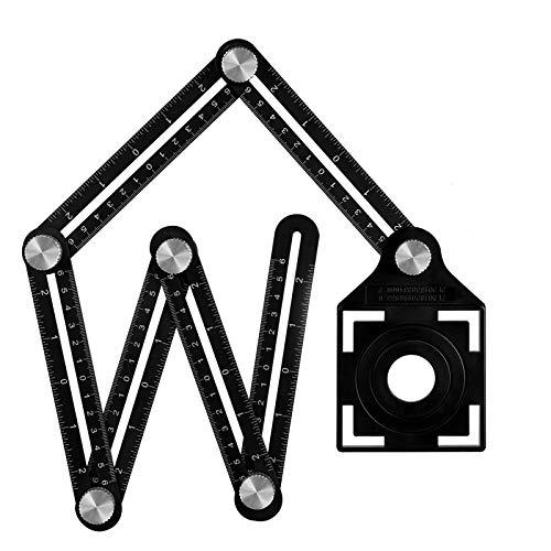 Winkelschablone Template Tool Multi-angle Winkelmesser Lineal Metall Winkel Werkzeug Verstellbarer...
