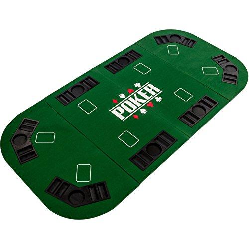 """Maxstore Faltbare Pokerauflage """"Straight"""" für bis zu 8 Spieler, Maße 160x80 cm, MDF Platte, 8..."""