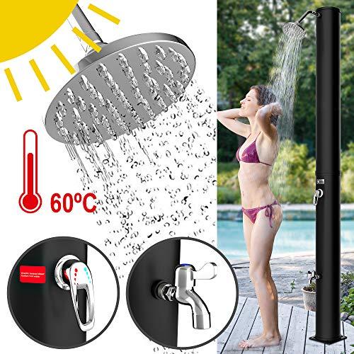 Homelux Solar Gartendusche Solardusche | warmes Wasser | 40 Liter | max. 60°C | ohne Stromanschluss |...
