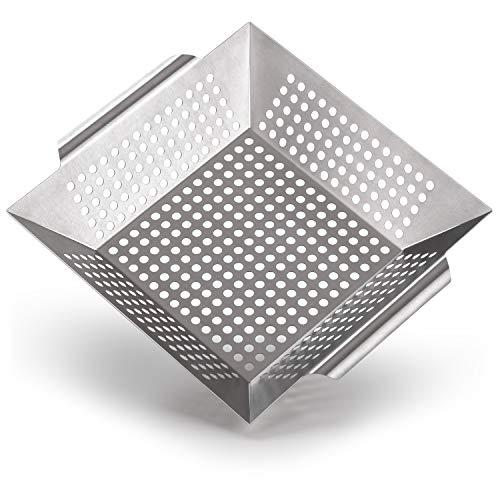 Blumtal Grillkorb aus 100% Edelstahl - perfekt für Grillgemüse, Grillschale geeignet für alle Grillarten,...