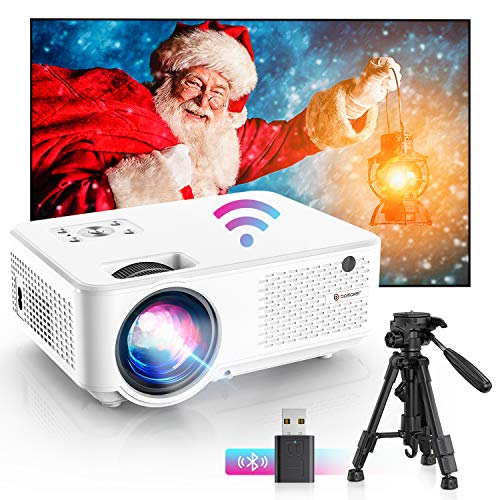 Bomaker wifi mini Beamer,7000 Support 1080P Full HD Heimkino tragbarer Beamer, Max. 300'' Display, 65000...