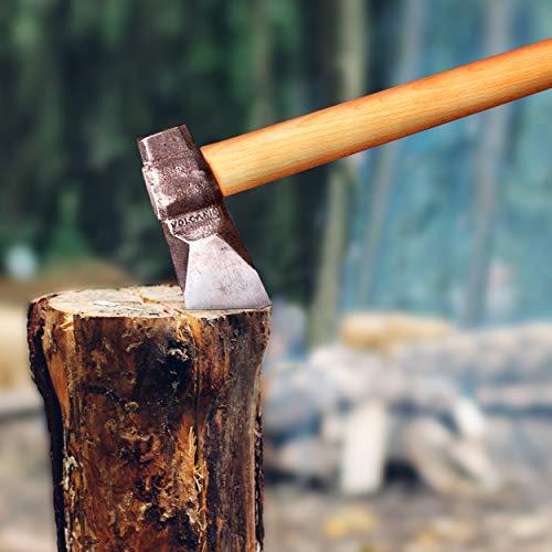 Volcanid Handgemacht Spaltaxt Holz hacken Axt | Forst Axt | Outdoor and Camping Axt | Hochwertige Stahl-Klinge...
