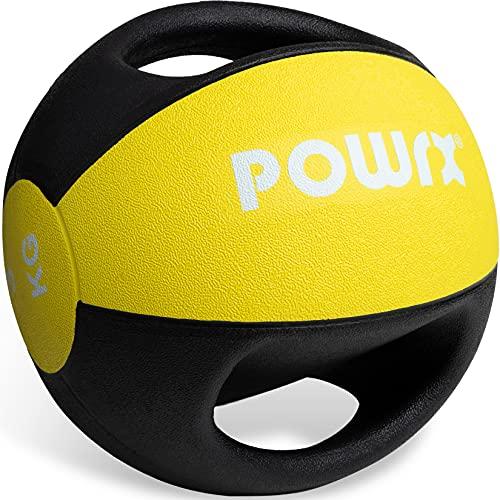 Medizinball mit Griffen Profi 3kg; 4kg; 5kg; 6kg; 7kg; 8kg; 9kg; 10kg I Gewichtsball Studioqualität inkl....