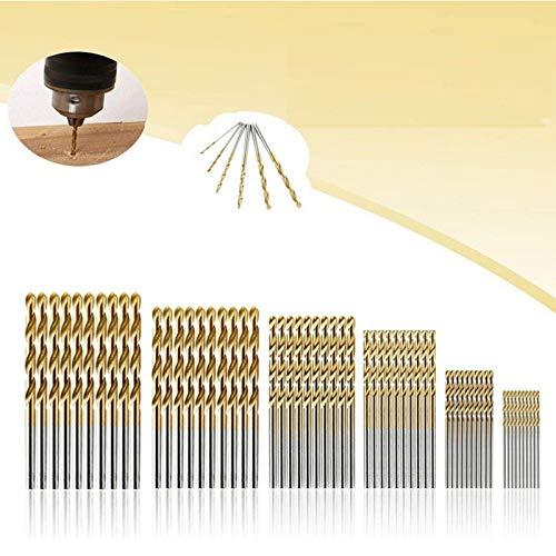 Spiralbohrer MOHOO 60pcs Bohrer 1/1,5/2/2,5/3/3.5 mm Metallbohrer HSS Stahlbohrer Satz für Holz Kunststoff...