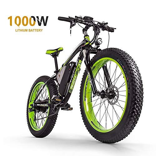 Sea blog Fettreifen Elektrofahrrad Mountainbike 26' E-Bike mit 48V 16Ah/1000W Lithium-Batterie und Shimano...