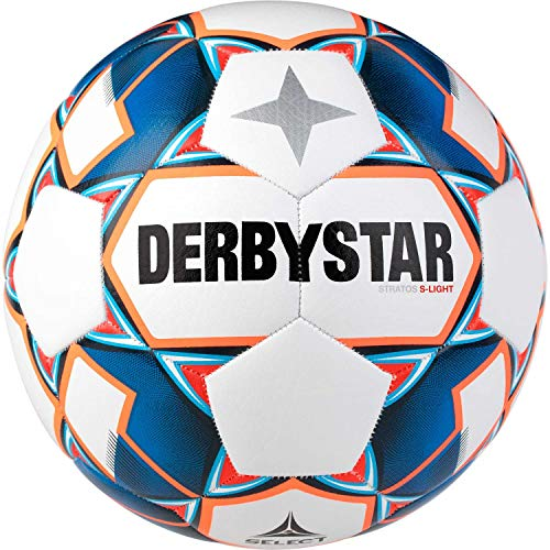 Derbystar Unisex Jugend Stratos S-Light Trainingsball, Weiss, 5