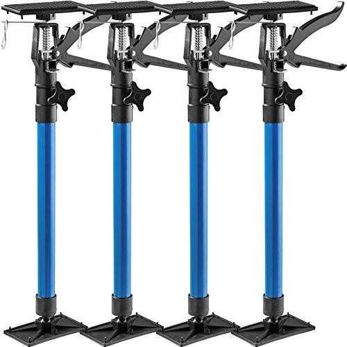 TecTake Türspanner Teleskopstange | stufenlos verstellbar | leichte Handhabung - Diverse Modelle (4er Set...