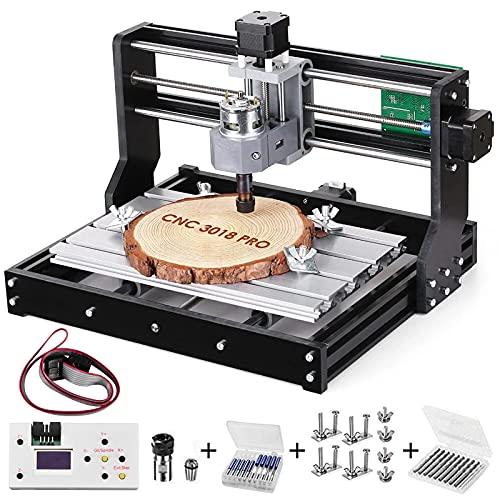 Vogvigo 3018 Pro CNC Fräsmaschine Kit, Holz 3D Graviermaschine,GRBL Steuerung,3 Achsen Kunststoff Acryl PCB...