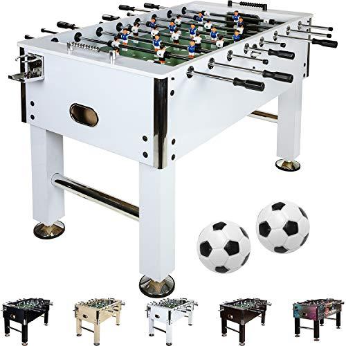 Maxstore Kickertisch Leeds in 5 Farben, Tischfußball, Tischkicker, inkl. 4 Bälle + 2 Getränkehalter, ca....