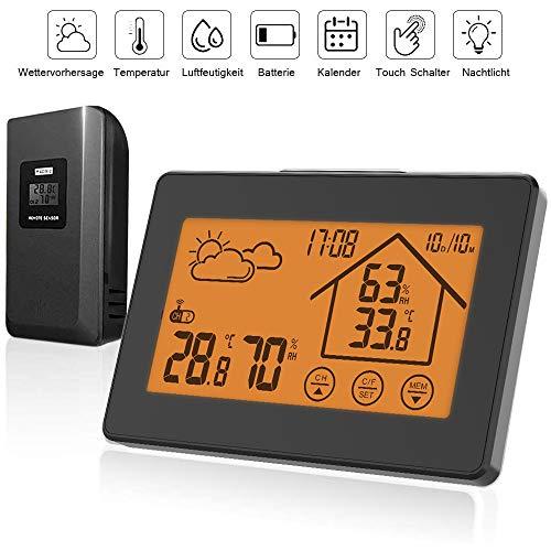 Digital Thermometer Hygrometer Wetterstation Innen Außen Luftfeuchtigkeit Sensor