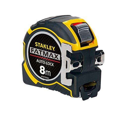 Stanley FatMax Pro Bandmaß Autolock (8 m Länge, 32 mm Klingenbreite, BladeArmor-Überzug, Bi-Material...