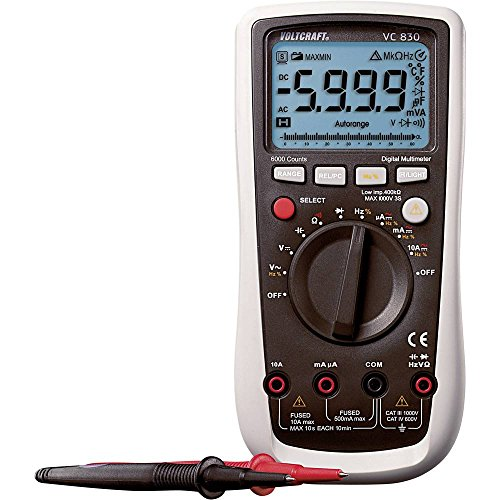 Voltcraft VC830 Hand-Multimeter digital CAT III 1000 V, CAT IV 600V Anzeige (Counts): 6000